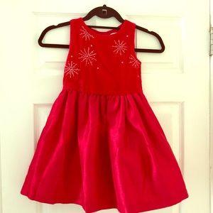 Gymboree | SPARKLE VELVET RED DRESS | 5T